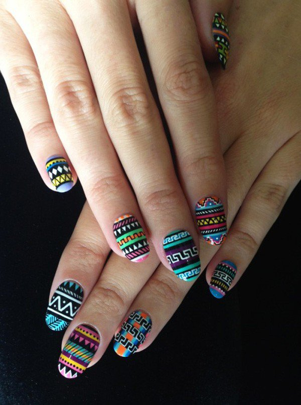 25 Great Tribal Nail Designs For 2016 Pretty Designs