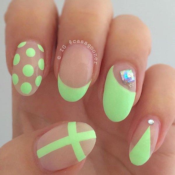 Neon Green Nail Design