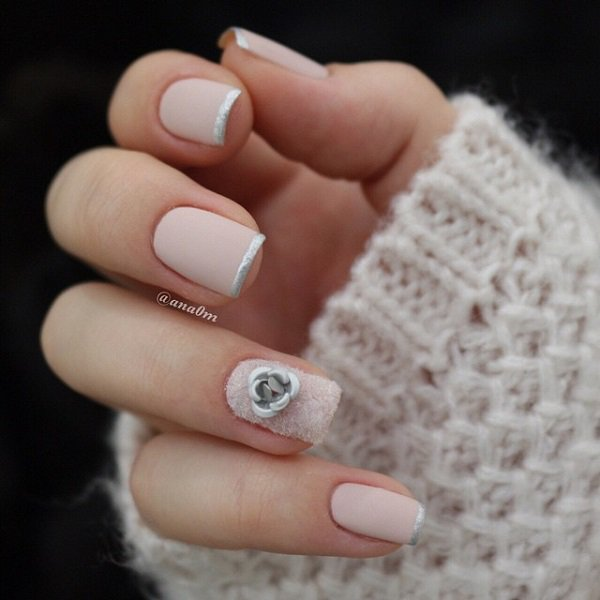 Nude French Tip Nail Design
