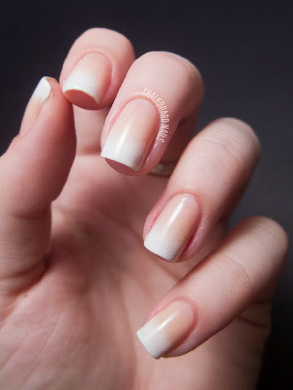Nude Gradient Nail Design
