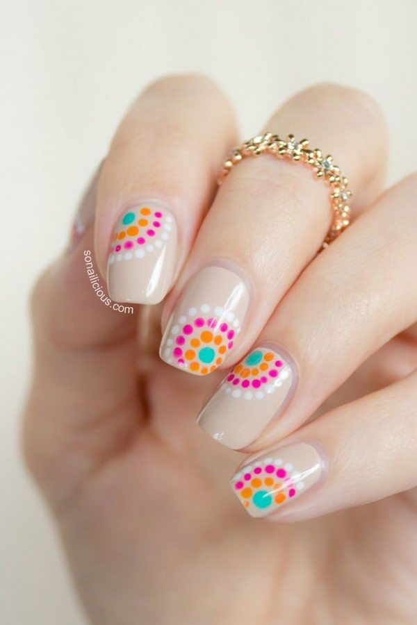 22 lovely polka dot nail designs for 2016 pretty designs nude polka dot nail design prinsesfo Gallery