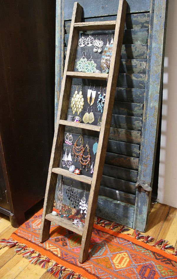 Old wooden ladder for Jewelry