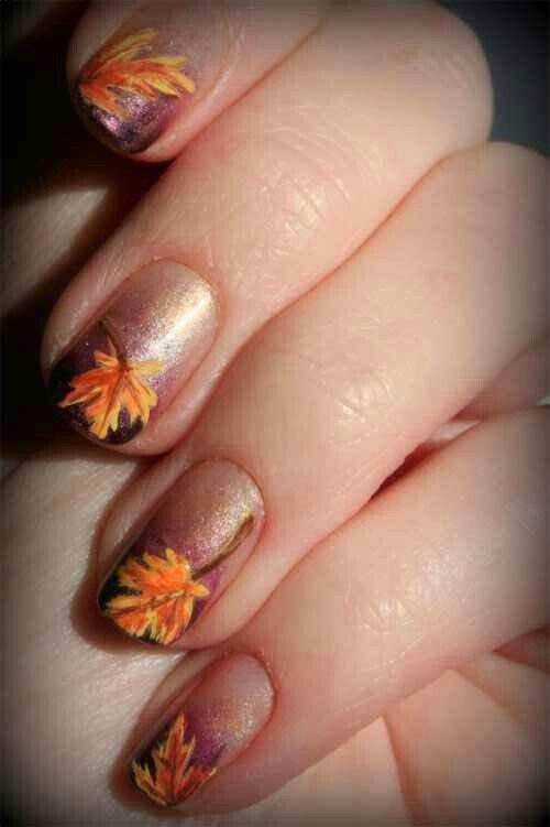 Ombre Thanksgiving Nail Design