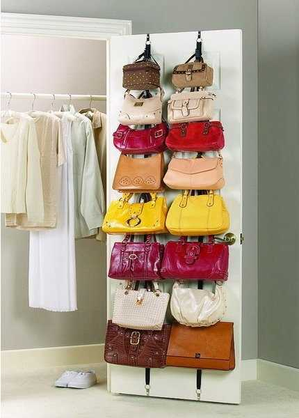 Over the Door Bag Storage Idea