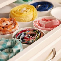 PVC Pipes in Drawer for Scarves