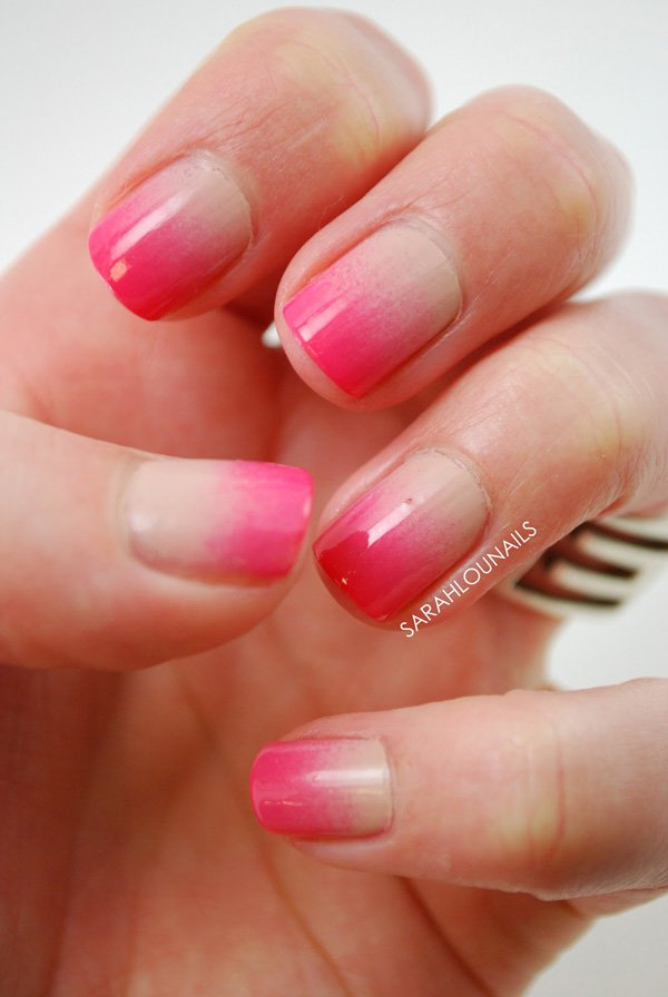 Pink Gradient Nail Design for Short Nails