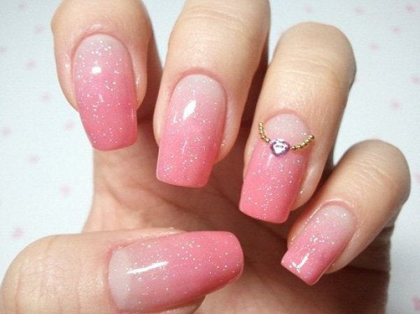 Pink Gradient Nail Design