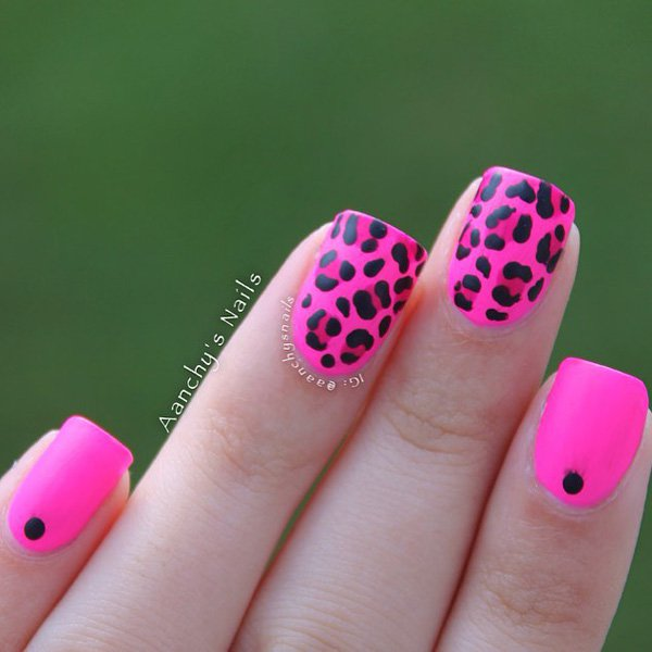 25 cute pink nail designs for 2016 pretty designs pink leopard print nail design prinsesfo Choice Image