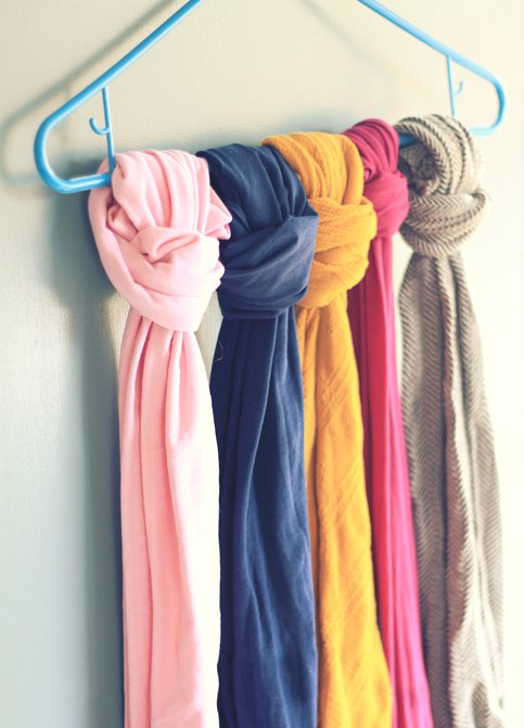 Plastic Hanger for Scarves