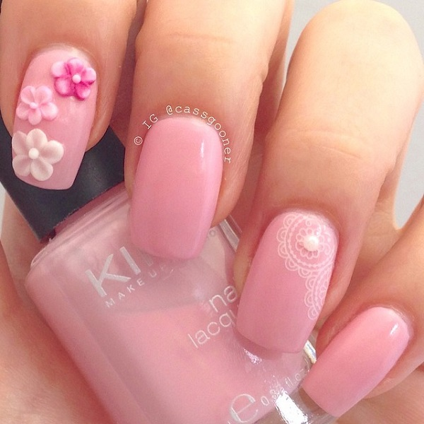 25 Cute Pink Nail Designs for 2016 - Pretty Designs - us58