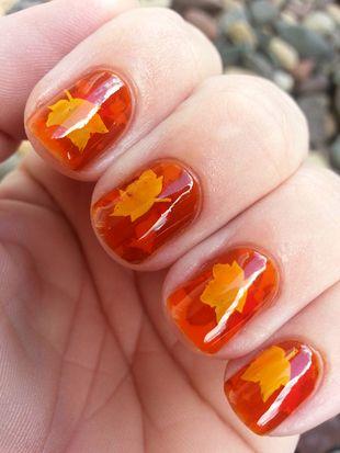 Pretty Maple Nails