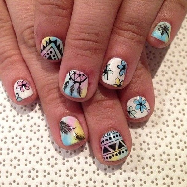 88 Tribal Nail Designs For Short Nails For Nail Designs Nails Short