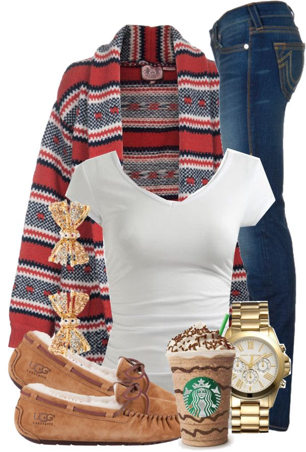 Print Cardigan and Skinny Jeans