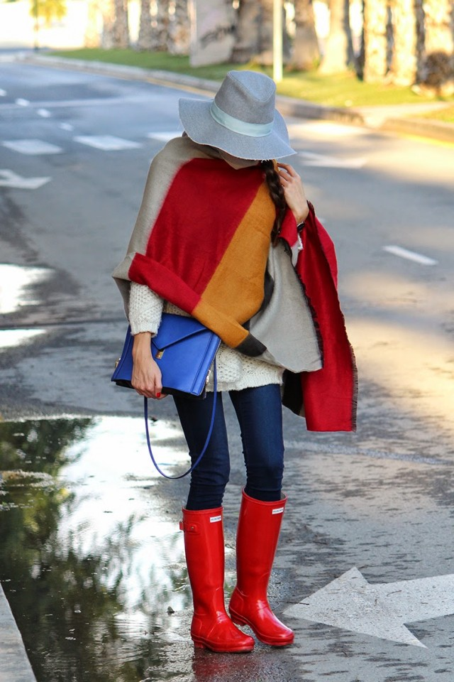 Rainy Boots with Cape Coat