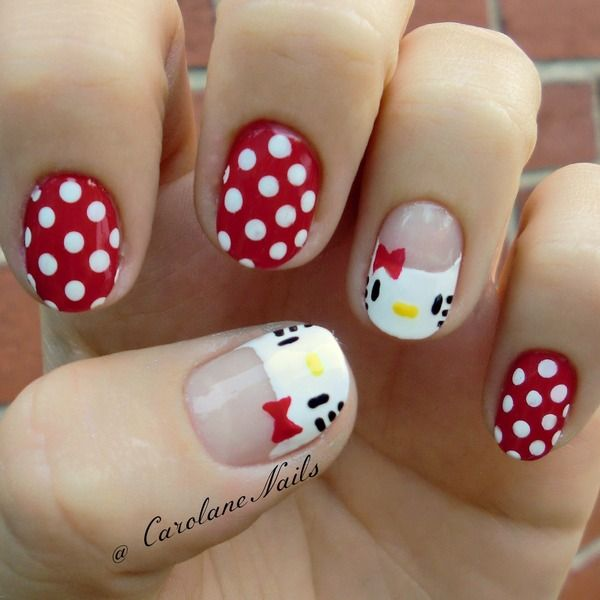 12 Cute Hello Kitty Nail Design Ideas Kitty Nail Nail Art Pretty