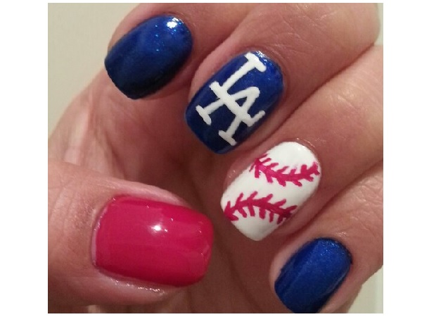 Single Baseball Nail Design - 15 Sporty Baseball Nail Designs - Pretty Designs