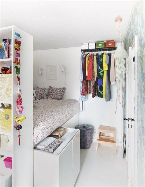 15 clever closet ideas for small space pretty designs for Tiny apartment storage ideas
