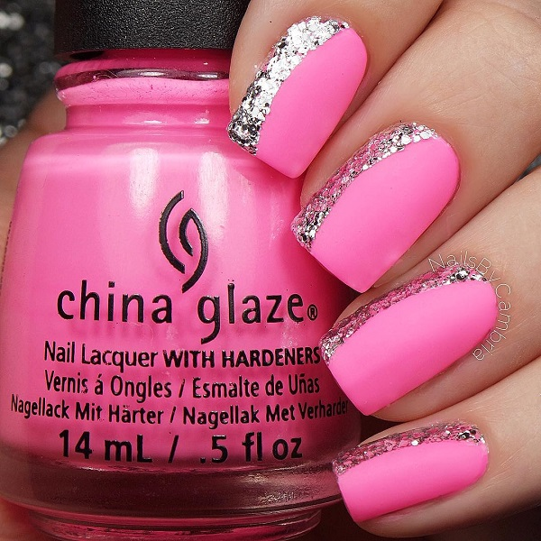 Sparkly Pink Nail Design - 25 Cute Pink Nail Designs For 2016 - Pretty Designs