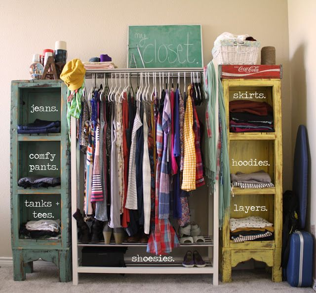 Storage Solutions & 15 Clever Closet Ideas for Small Space - Pretty Designs