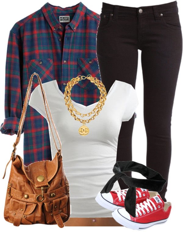Tartan Shirt with Black Jeans