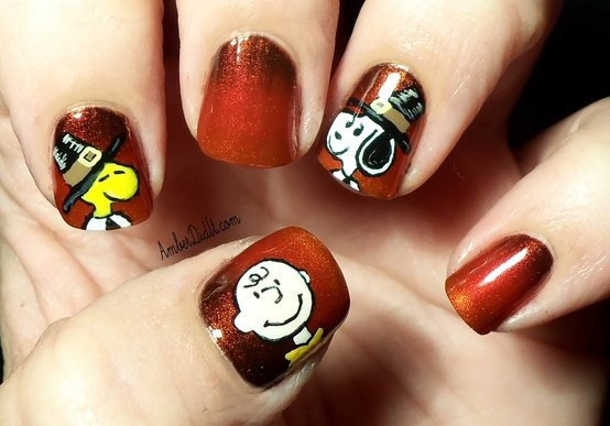 Cute Thanksgiving Nail Design