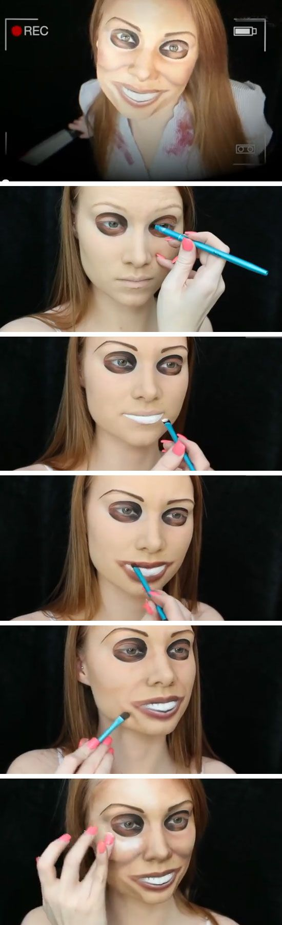 Simple halloween makeup tutorials choice image any tutorial examples 15 makeup ideas to pair your halloween looks pretty designs the purge makeup baditri choice image baditri Image collections