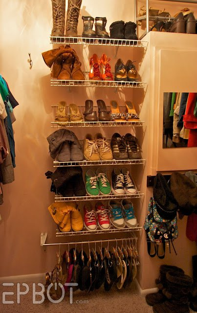 Wall-Mounted Shoe Shelves
