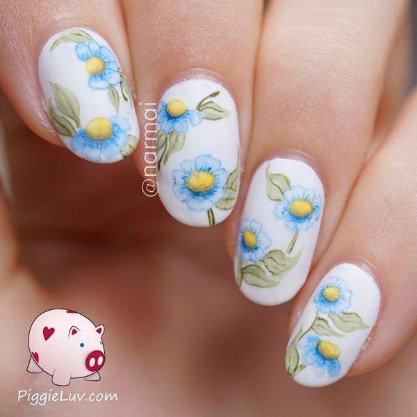 Watercolor Nail Art Design