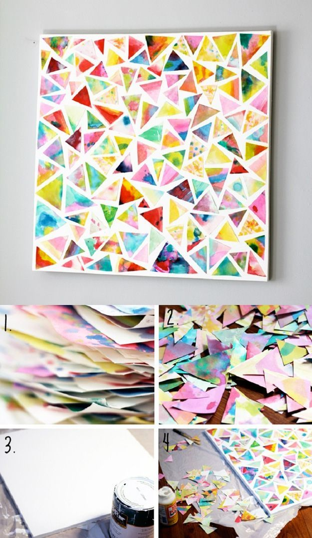 Watercolor Triangle Wall Art