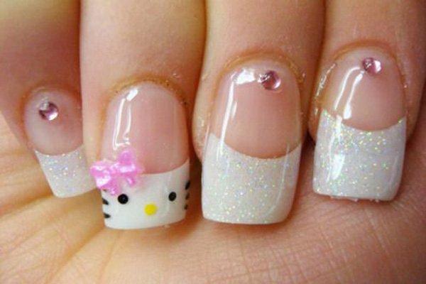 12 Cute Hello Kitty Nail Design Ideas Kitty Nail Nail Art Pretty