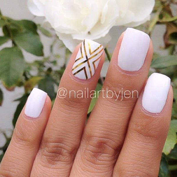40 Best Metallic Nail Designs for 2018 - Nail Art Ideas - Pretty Designs