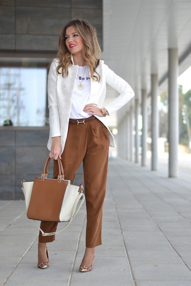 White and Brown Combination