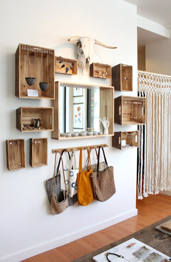 Wooden Hooks for Bags