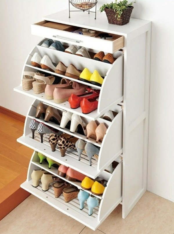 Wooden Shoe Drawer