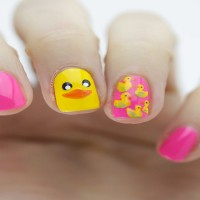 Yellow Duck Nail Design