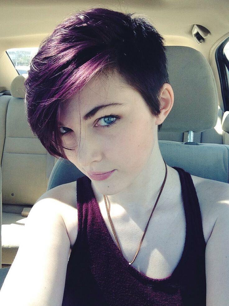 Asymmetrical Short Hairstyle for Purple Hair