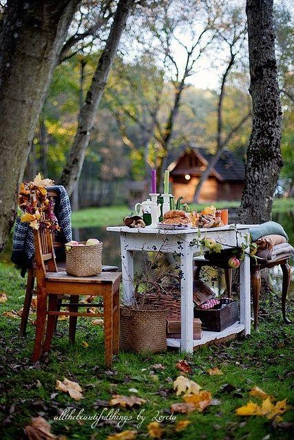 Backyard Table for Fall