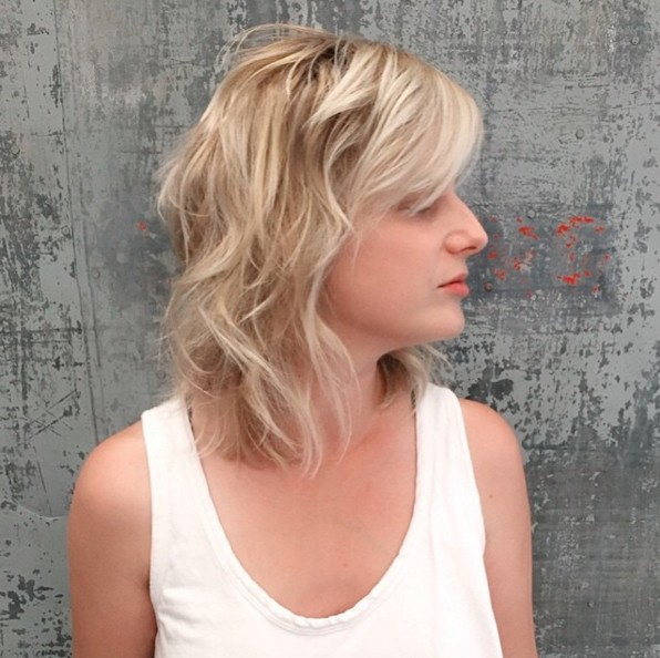 Blond Wavy Shaggy Hairstyle