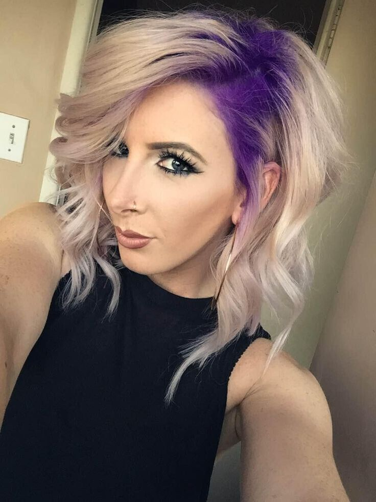 20 Romantic Purple Hairstyles For 2016 Pretty Designs