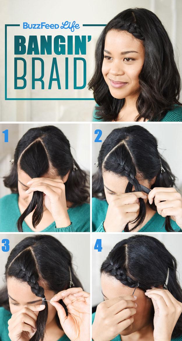 Braided Bangs