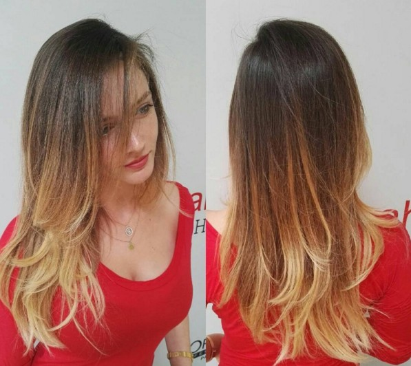 Brown to Blond Ombre Hairstyle