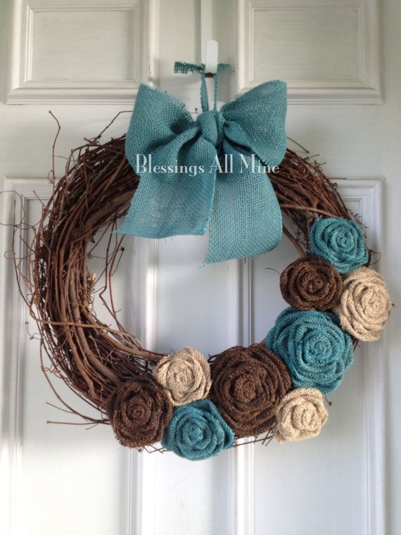 Burlap Brown Wreath