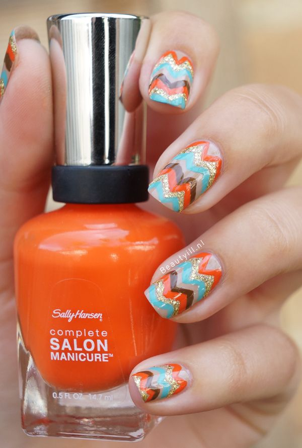 25 Thanksgiving Day Nail Arts for Girls - Pretty Designs