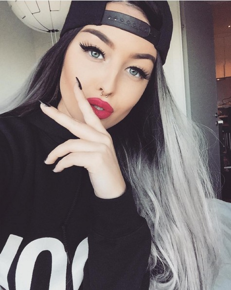 Cool Ash Grey Hairstyle for Long Hair