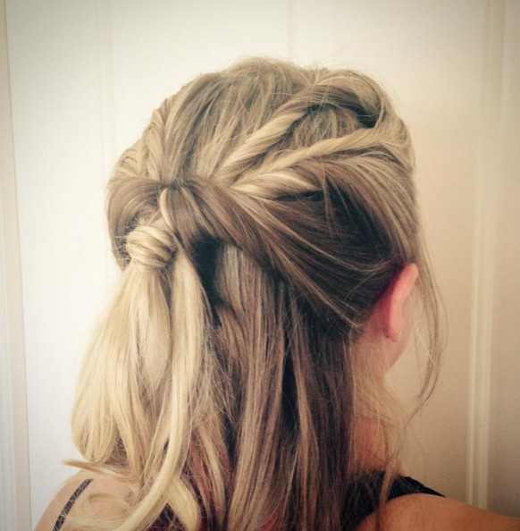 Up Hairstyles loose braid and up do Cute Half Up Half Down Hairstyle