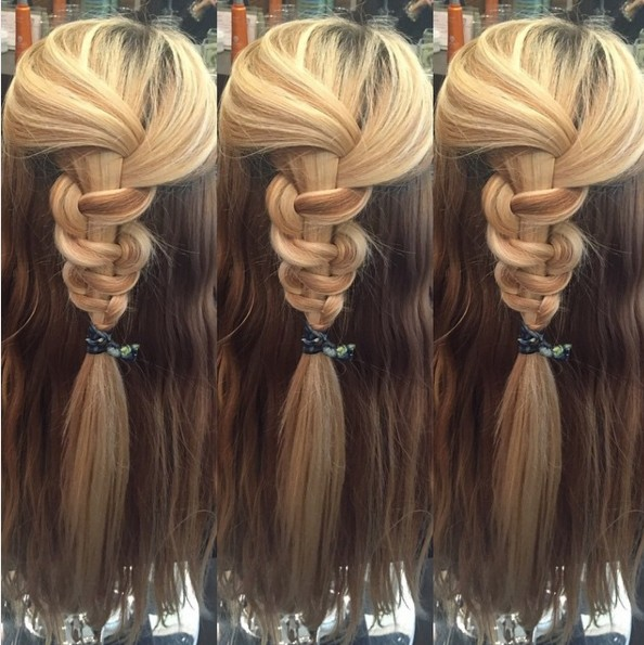 Easy Braided Half Up Half Down Hairstyle