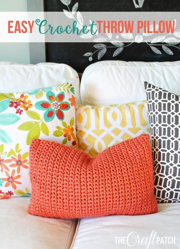 Easy Crochet Throw Pillow