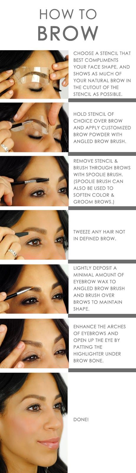 15 Ways to Have the Perfect Eyebrows [ Eyebrow Tutorials ...