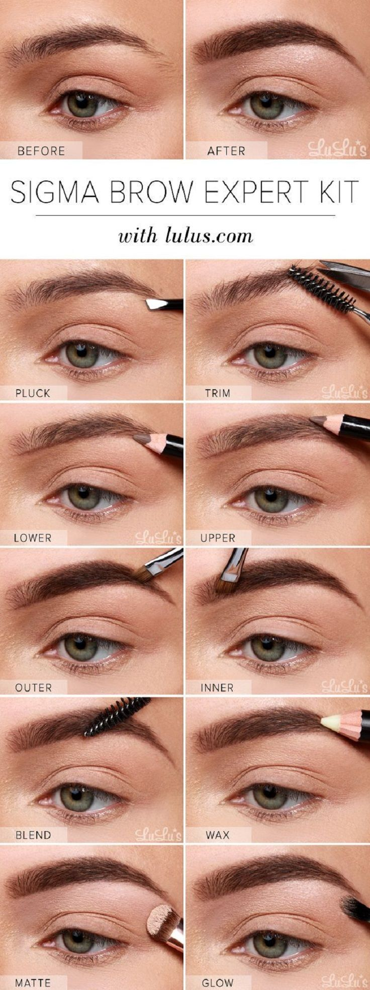 Eyebrow Shapes Images: 15 Ways To Have The Perfect Eyebrows [ Eyebrow Tutorials