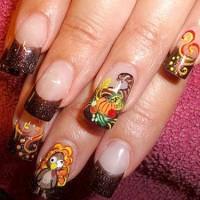 Fall Themed Nails